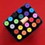 Moderationsmarker in verschiedenen Farben von oben in einer Box. Foto: Janne Klöpper